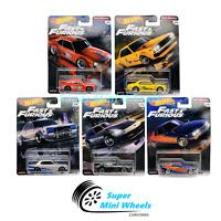 Hot Wheels Premium 2019 Fast & Furious Fast Rewind E Case Set of 5 Cars