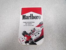 AUTOCOLLANT ANCIEN PUBLICITAIRE MALBORO FOIRE EXPOSITION DE NANCY 1982 F1  *