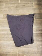 Columbia Flat Front Slate Blue Cotton Shorts Mens 40W 10L