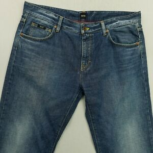 HUGO BOSS KANSAS Mens  Jeans W38 L33 Blue Regular Straight