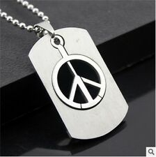 NEW peace woman's Men's Silver 316L Stainless Steel Titanium Pendant Necklace