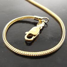 FSA160 GENUINE REAL 18K YELLOW G/F GOLD SOLID SNAKE LINK PENDANT NECKLACE CHAIN