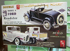 AMT 1929 Ford Model A Roadster / Ala Kart Double Kit T129 Orig Issue Unbuilt 60s