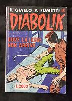 DIABOLIK N.288 ANNO 1990 DOVE LA LEGGE NON ARRIVA  F10