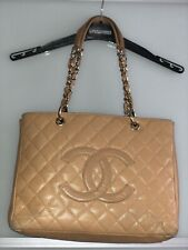CHANEL Grand Shopping Caviar Leather Tote