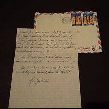 AMATUS TEISSIER OSB Abt Koubri signed Brief 15x18 (Priesterweihe 1937)
