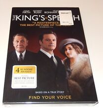 The Kings Speech  Colin Firth Geoffrey Rush Guy Pearce (DVD, 2011) WS  SEALED