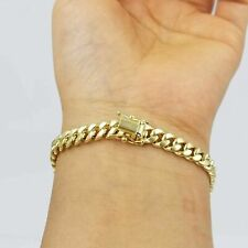 "10k Yellow Gold Miami Cuban Bracelet Real Gold 6mm Link 7.5"" inch Men Women"