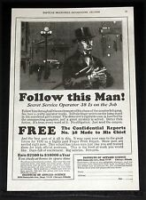 1929 OLD MAGAZINE PRINT AD, TRAIN TO BE A FINGER PRINT EXPERT, SECRET SERVICE!