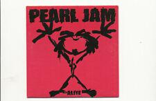 Pearl Jam Alive Cardboard Slip Promo CD MINT CONDITION