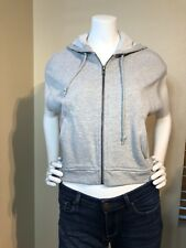 French Connection Gray Hooded Zip Up Vest Size Small S