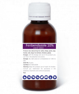 Fenbendazole liquid 10%  (Panacur Safe guard), 100ml 3.38 fl oz