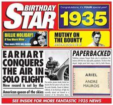 83rd BIRTHDAY GIFT - 1935 Chart Hits Compilation CD & Retro Year Greeting Card