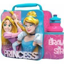 Disney Princess - Kids Children Insulated 3D Lunch Bag Box And Water Bottle Set