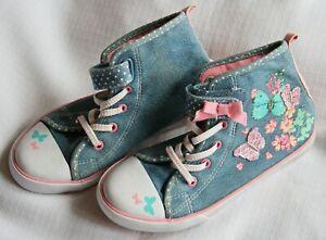TU girls denim butterfly boots - size 13