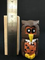 WOODEN OWL Unique Wood Carved Figurines Artisan Handmade Collectibles
