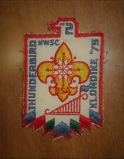 1975 Vintage Boy Scouts Patch Thunderbird Klondike Northwest Suburban Illinois