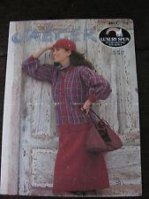 """Jaeger Knitting Pattern: Ladies Jacket, Skirt, Hat, 32-38"""", DK, 4957"""