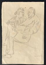 1919 Portrait Drawing By German Expressionist Artist Reinhold Ewald