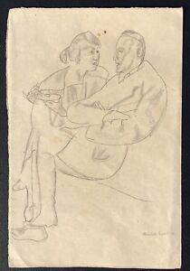 1919 Portrait Drawing By German Expressionist Artist Reinhold Ewald