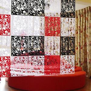 12PCS Screen Panels Hanging Room Divider Plastic Partition Home Wall Art Deco