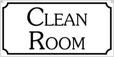 Clean Room- 6x12 Aluminum Retro Laundry Safety sign