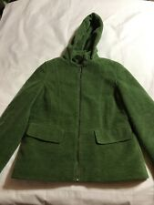 L.L.Bean Wool Blend Jacket Coat Lined Insulated Womens Size Small petite green