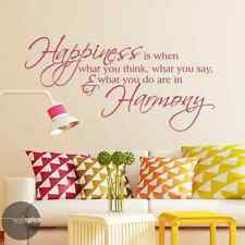 Happiness Is When What You Think Say Do Are In Harmony Gandhi Vinyl Wall Decal