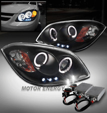 05-10 CHEVY COBALT/07-09 G5 HALO LED PROJECTOR HEADLIGHT BLACK +50W 6K XENON HID