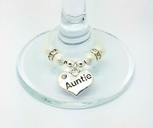 Silver Stardust Wedding Family Top Table Party Wine Glass Charms Christmas