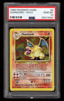 PSA 10 CHARIZARD 1999 Pokemon Base Unlimited #4/102 Holo Non-Shadowless GEM MINT