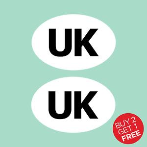 2x UK Oval Rear Car Sticker. Vans, Lorrys, Caravan - UK, Union Jack, EU, Europe