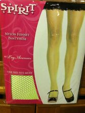 NEON YELLOW/GREEN FISHNET HOSIERY - ONE SIZE FITS MOST