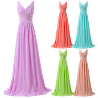 Formal Long Chiffon Bridesmaid Prom Ball Gown Party Cocktail Evening Prom Dress