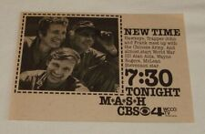 1974 CBS tv ad ~ M A S H mash ~ meet up with the Chinese army