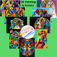 DIY Oil Painting Kit By Numbers Acrylic Art on Canvas Frameless Starter Beginner