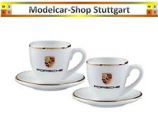 Porsche Wappen Espressotassen-Set 2-teilig aus Porzellan - fabrikneu