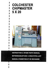 Colchester Chipmaster 5 x 20 Lathe Manual - in PDF format