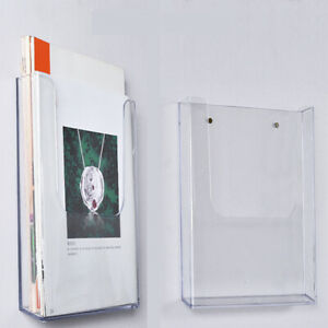 NEW Clear Wall Mount Frame Acrylic Sign Poster Holder Letter Holder Home Office