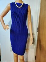 NEW KAREN MILLEN FITTED EMBELLISHED DRESS SIZE UK 8 APPROX (KM 2) 57% VISCOSE