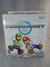 Official Nintendo Wii Wheel  Mario Kart Game Controller White Race Wheel