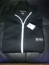 Hugo Boss Black/white  track top with boss logo on chest..size large 40/42 inch