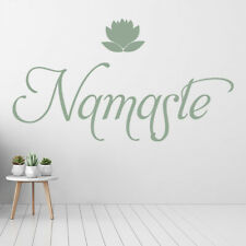 Namaste Lotus Flower Wall Sticker WS-44123