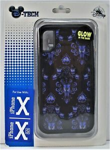 Disney Haunted Mansion Wall Paper Glow In Dark Apple Iphone 10 X/XS Case NEW