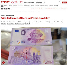 "BEST DEAL: SET OF 2 ""0 EURO"" BANKNOTES KARL MARX - TRIER 1818-2018, ZERO € NOTES"