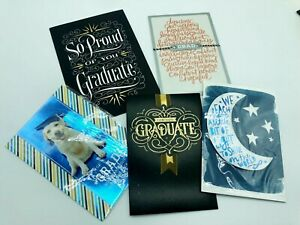 Graduation Appropriate Hallmark Cards with Envelops Lot of 5 Assorted