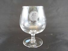 Sasaki Glass Co Mid Century Cut Etched Rose Set of 6 - 7 oz Brandy NEW