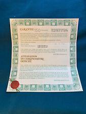 Rolex Certificate Guarantee Warranty For a T serial Datejust 69178