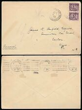 FRENCH INDOCHINA 1931 to PENFIELD in CHINA 10c RATE...CANTON MACHINE as RECEIVER