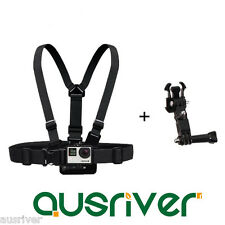 Double Shoulder Chest Mount Adatper Harness Strap Belt for GoPro Hero 4 3+ 3 2